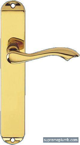 Ambassador Lever Latch Polished Brass